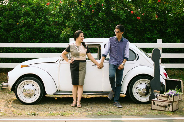 VW Beetle Theme Prenup –  Anna & Rowell Engagement Shoot