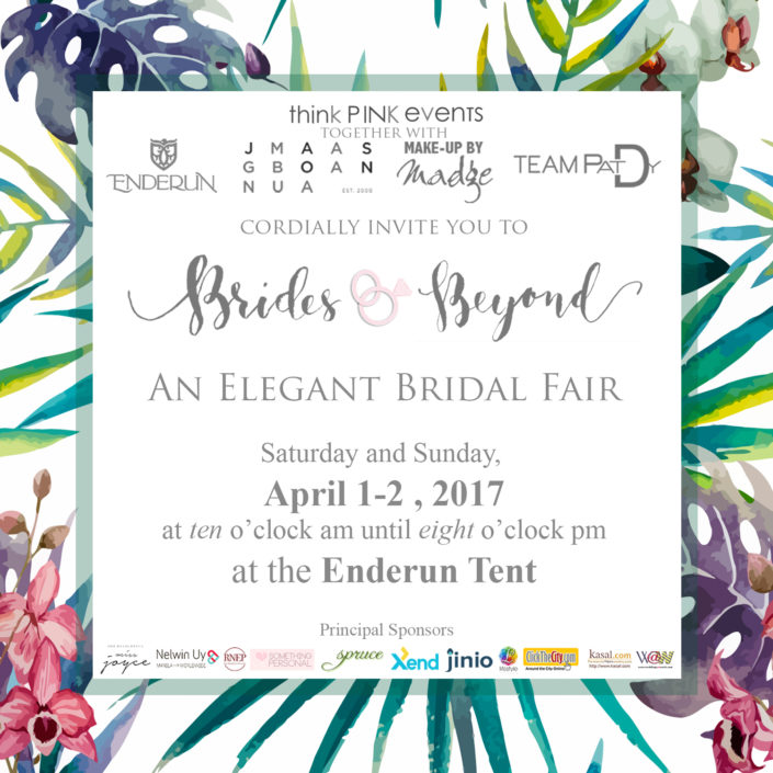 Join us Brides and Beyond Wedding Fair April 1-2!